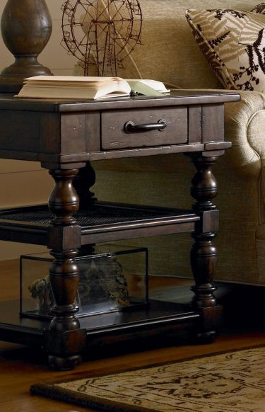 Attractive Home Gallery Furniture For Paula Deen Home Living Room, Drawer End Table