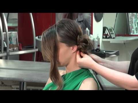 Как сделать красивый пучок из волос - YouTube