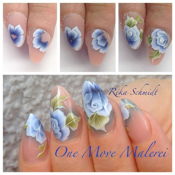 395 best one stroke art images on pinterest deko drawings and step by step one stroke nails prinsesfo Choice Image