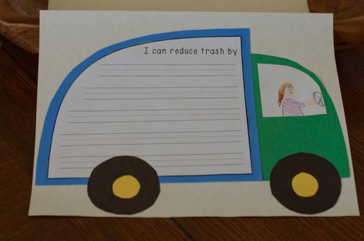 A little trashy- how can you help reduce trash to the landfill.  An Earth Day craftivity.
