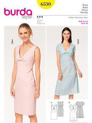 Kleid – Shiftkleid – gedrehtes Oberteil Schnittmuster