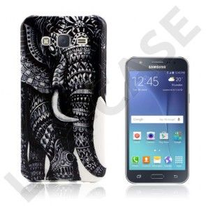 Westergaard cover til Samsung Galaxy J5 - Sort elefant