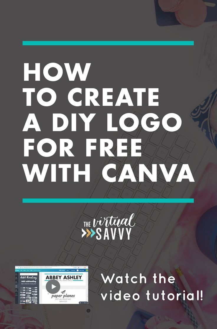 Create an awesome DIY logo for FREE using Canva! Watch this video tutorial on The Virtual Savvy