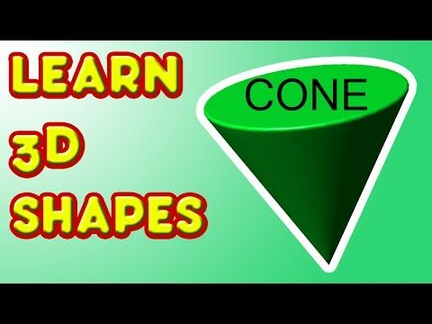 ▶ Learn 3D Shapes - CONE - Fun kindergarten lesson for kids - YouTube