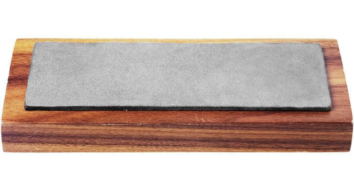 Diamond Knife Sharpener on Pedestal    Fine, 600 grit stone made with an industrial diamond alloy. Set on a walnut block. Sharpens knives, tools and blades with fewer strokes. Made in Carson City, Nevada. $29.70 USD