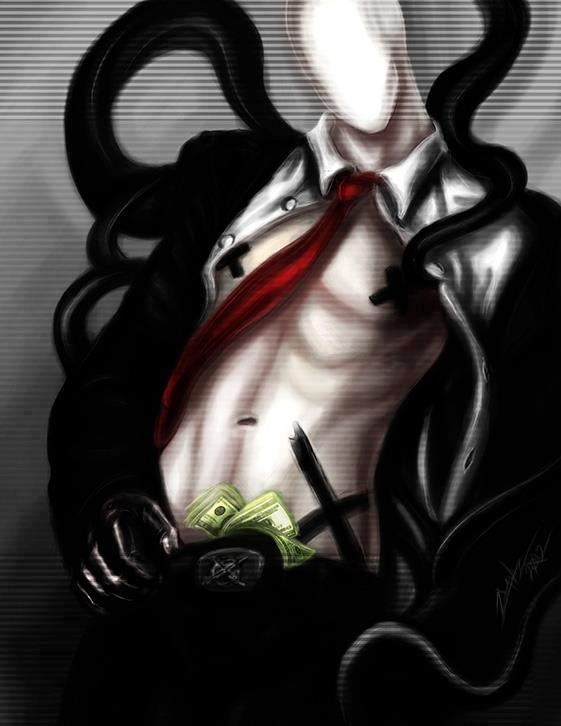 Creepypasta Porn - Me:*enters room and sees Slender* Slender: Hey~ Me:You're drunk.