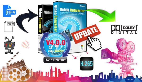 Significant breakthroughs are made simultaneously in Dimo V4.0.0 upgrade:   The newly- added 7.1 and HEVC output marks it the industry's most complete video audio solution for converting normal videos from/to HEVC H.265 files on Mac OS High Sierra and keeps 7.1 Dolby True HD 7.1 Surround Sound in MP4/MOV/ATV output, with a 50x faster performance yet untouched quality.