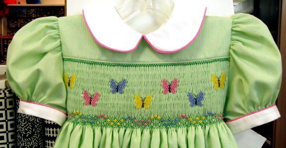 Smocking Plate: Bailey's Butterflies   Pattern:  Lee by Children's corner