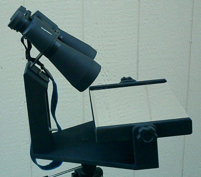 Binocular mirror mount for comfortable binocular observing ...