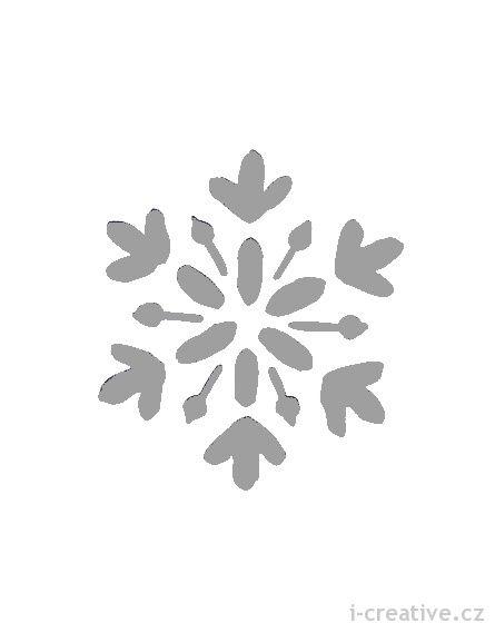 šablona na okno - sněhová vločka