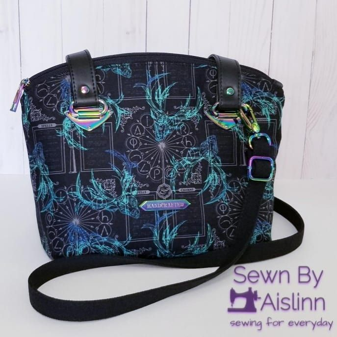 New Large Denim Tote Bag Handmade with Harry Potter Fabric