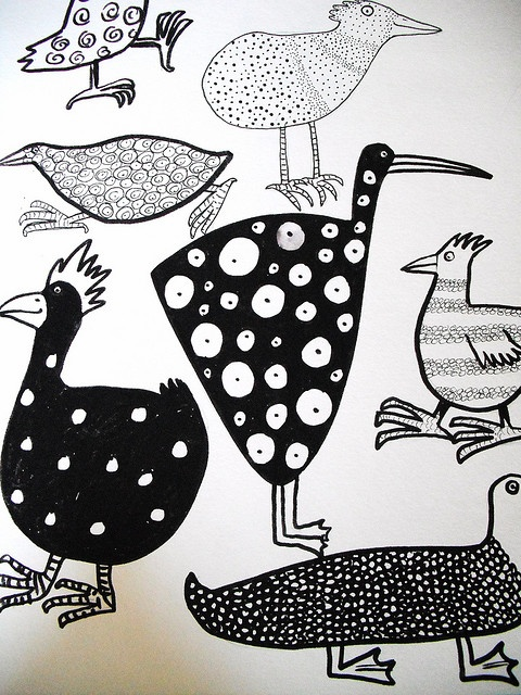 Patterned birds