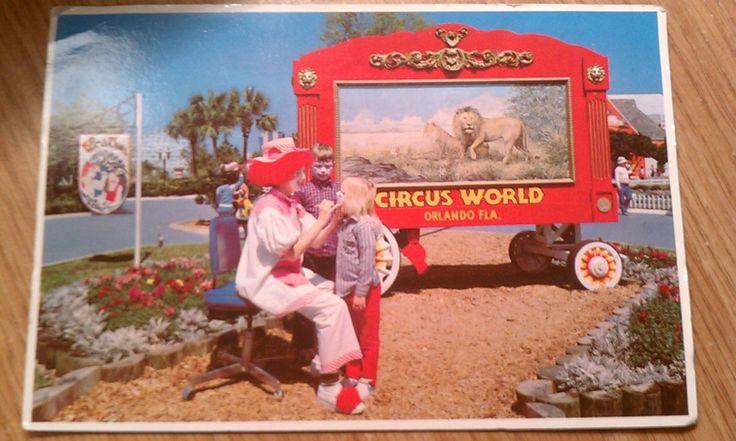 Vintage Florida postcard vintage ephemera vintage Florida memorabilia Florida's Circus World