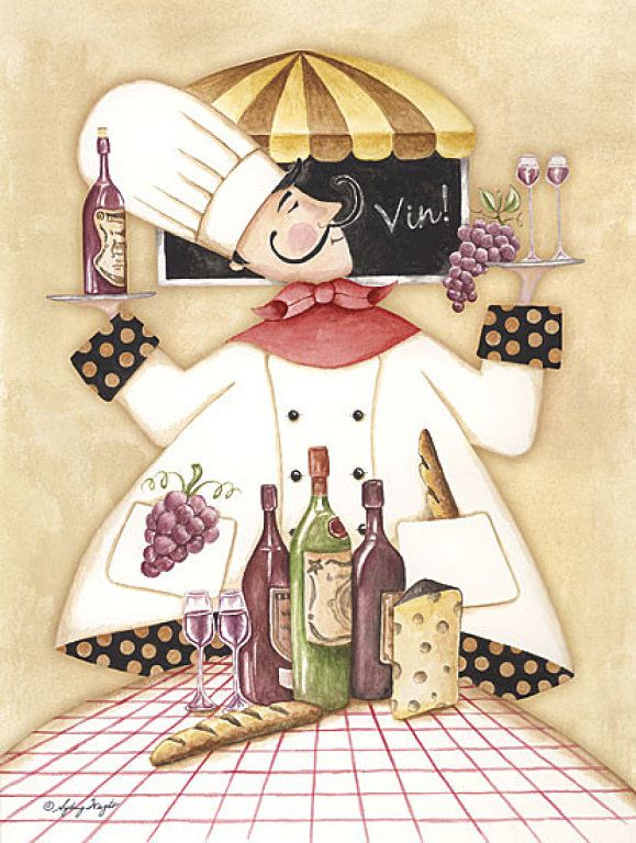 chef with wine: