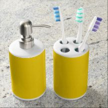 Sunny day Toothbrush Holder and Soap Dispenser Set