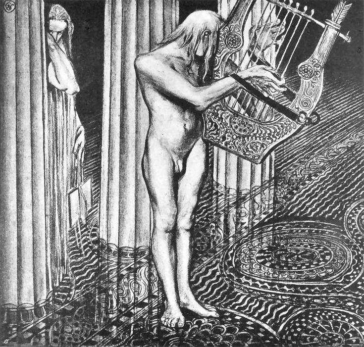 Stanisław Wyspiański, Iliad (Homer), Apollo and Melpomene, 1897