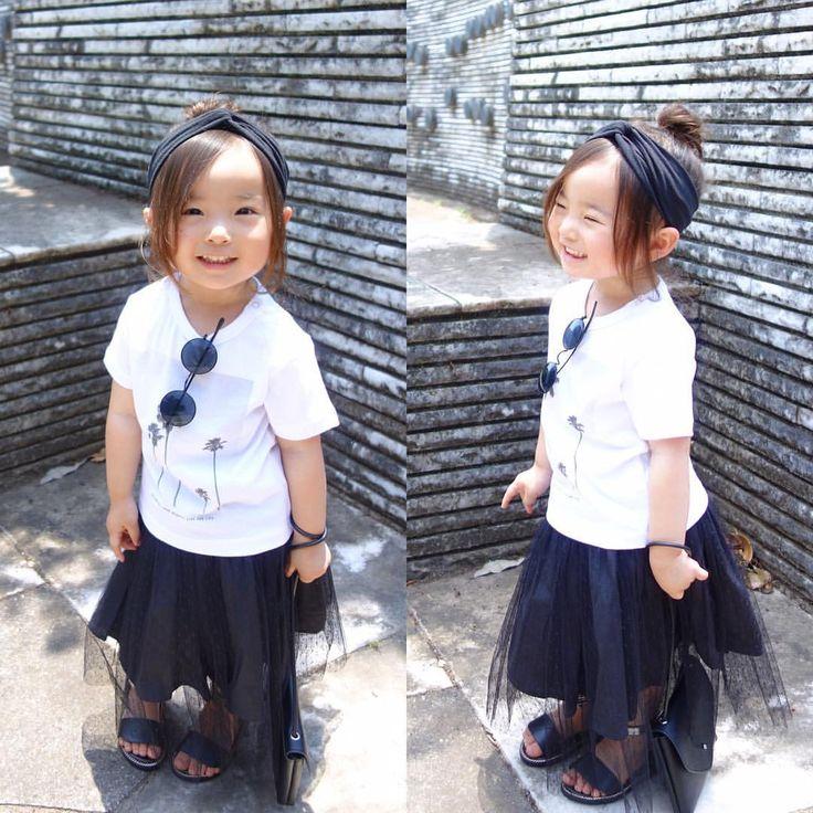 いいね!5,501件、コメント29件 ― @sarasara718のInstagramアカウント: 「. . coordinate♡ . モノトーン。 . ヤシの木柄のTシャツが 夏っぽくて◎ . #wear #ootd #kids #kids_japan #kids_japan_ootd…」