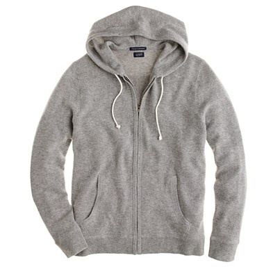 J. Crew Cashmere Zip Hoodie -- Awesomness