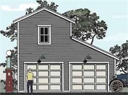 Best 25 garage plans with loft ideas on pinterest for 2 and a half car garage dimensions