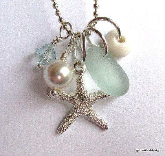 Seafoam starfish sea glass - lovely trinkets