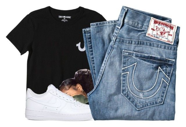 """Untitled #209"" by shaymacc ❤ liked on Polyvore featuring True Religion and NIKE"