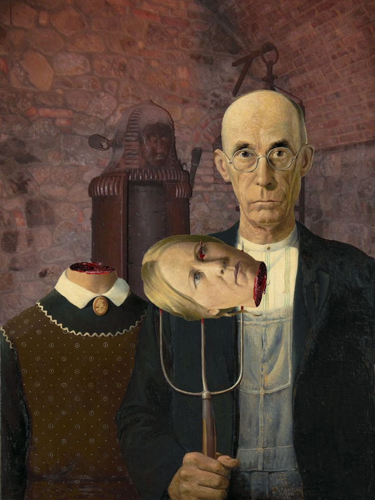 opinion on american gothic painting  american gothic – writing assignment i description: in the painting we see two people we see the farmer holding a hayfork and beside him is a woman.