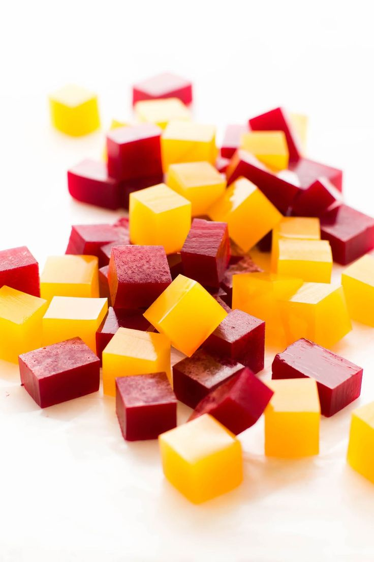 **Orange Fruit Snacks: 1 cup orange juice + 1-2 tbsp liquid sweetener (maple syrup, agave, etc.) + 1 1/2 tsp agar agar powder **Berry Fruit Snacks: 1 cup beet/berry/cherry juice + 1/4 cup berry jam + 1 1/2 tsp agar agar powder ** Simmer for 2 minutes while constantly whiskering