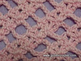 Combination Stitch: v-st and Ch5 Crochet_Tutorials Pinterest