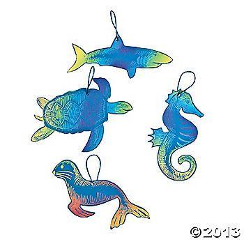 Magic Color Scratch Ocean Animal Ornaments $6.50 for 24