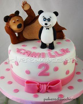 torta Masha & Orso (in questo caso Panda & Orso)  Masha & Bear Cake