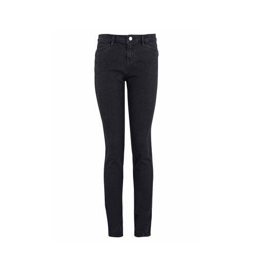 Jean slim taille haute Femme noir - Promod
