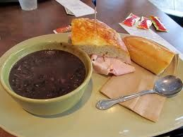 Panera Bread Black Bean Soup recipe, I will make in a slow cooker and use 6 cups of chicken broth and cook on low for 6-8 hours.