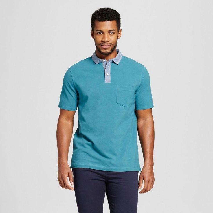 Men's Club Polo Shirt Turquoise M - Merona