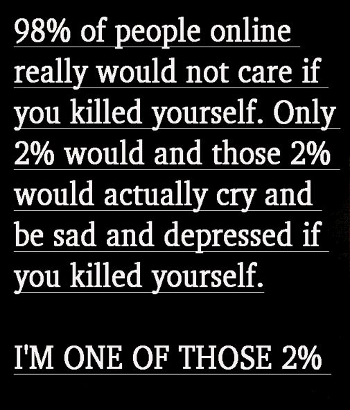 I am one of those 2% << I usually don't repin these, but this seemed important<<< we are all very important!