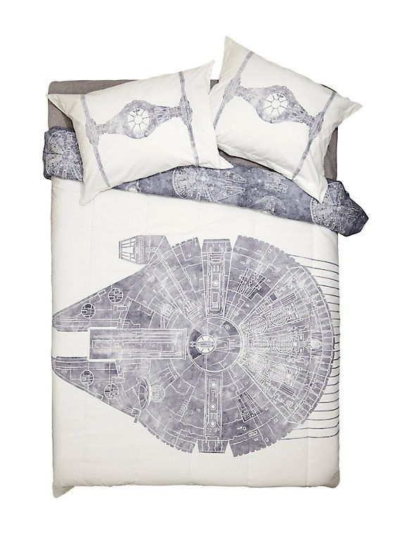Star Wars Millennium Falcon Full/Queen Comforter & Shams Set,
