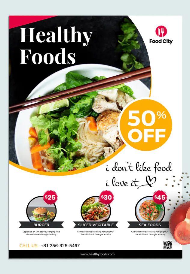Restaurant Flyer Template By Victorthemesnx On Envato Elements Restaurant Flyer Food Poster Design Flyer Template