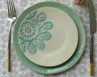 Keramische Dinerborden met Goud Minimalistische Dessertbord