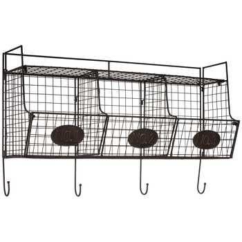 Black Wire Shelf with 3 Wire Baskets