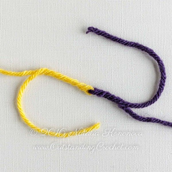 Knitting Joining Yarn Double Knot : Best images about knit and crochet techniques on