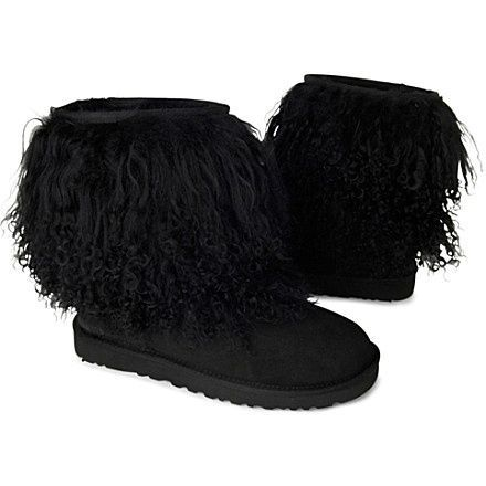 black uggs fur