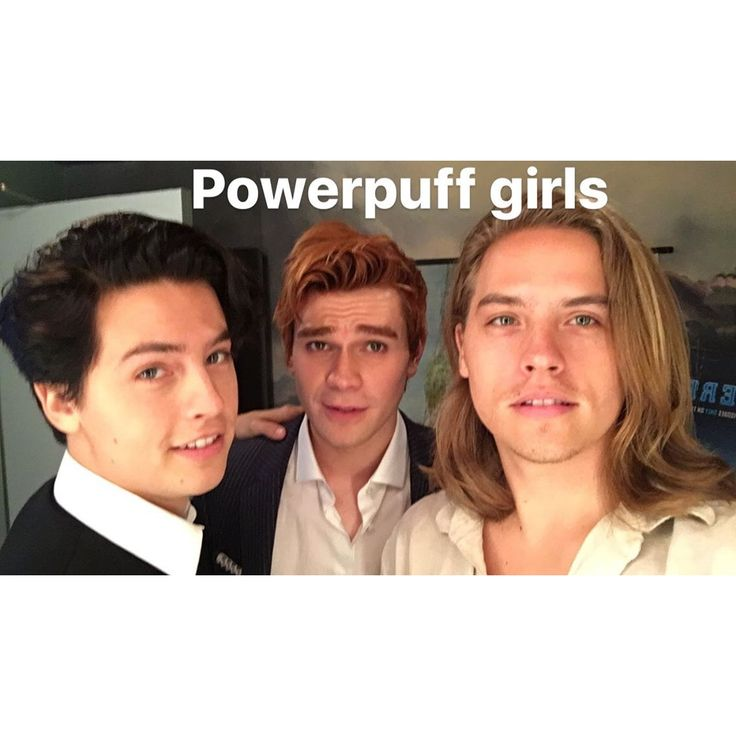 Dylan and Cole Sprouse with KJ Apa