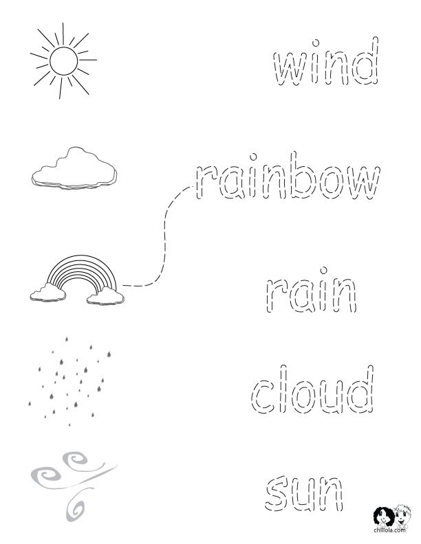 English Worksheets for Kids ~ Spring Printout English ~ English Activities for Children