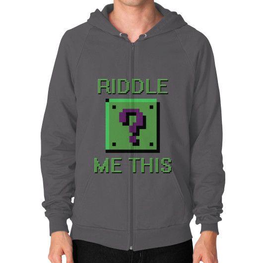 8-Bit Riddle Me This Zip Hoodie - Male