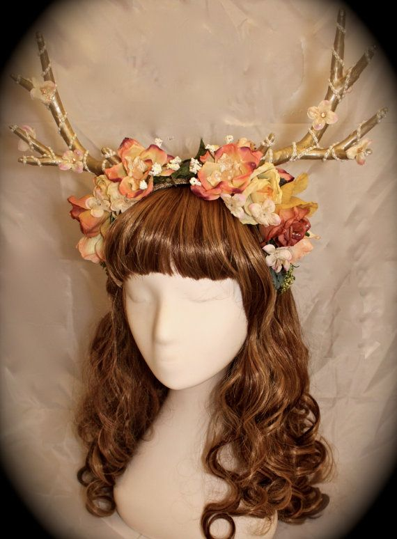 Forest wedding Lolita Mori Deer antler by enchanteddreamwear