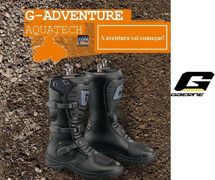 BOTAS GAERNE G-ADVENTURE AQUATECH || Estas botas impermeáveis, vão manter os seus pés secos, mesmo nas condições mais propícias a ficarem molhados. Construção leve em couro que oferece um maior conforto e menor desgaste da bota ao longo do tempo. Estas botas foram especialmente desenvolvidas para TOURING e ATV.  #lusomotos #gaerne #aquatech #adventure #touring #atv #conforto #impermeáveis