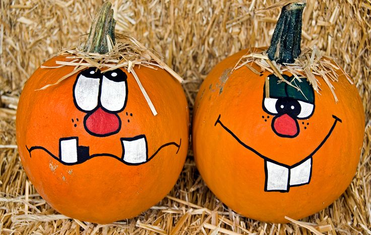 Painted Pumpkins http://www.rodalesorganiclife.com/wellbeing/halloween-pumpkin-decorations/slide/1