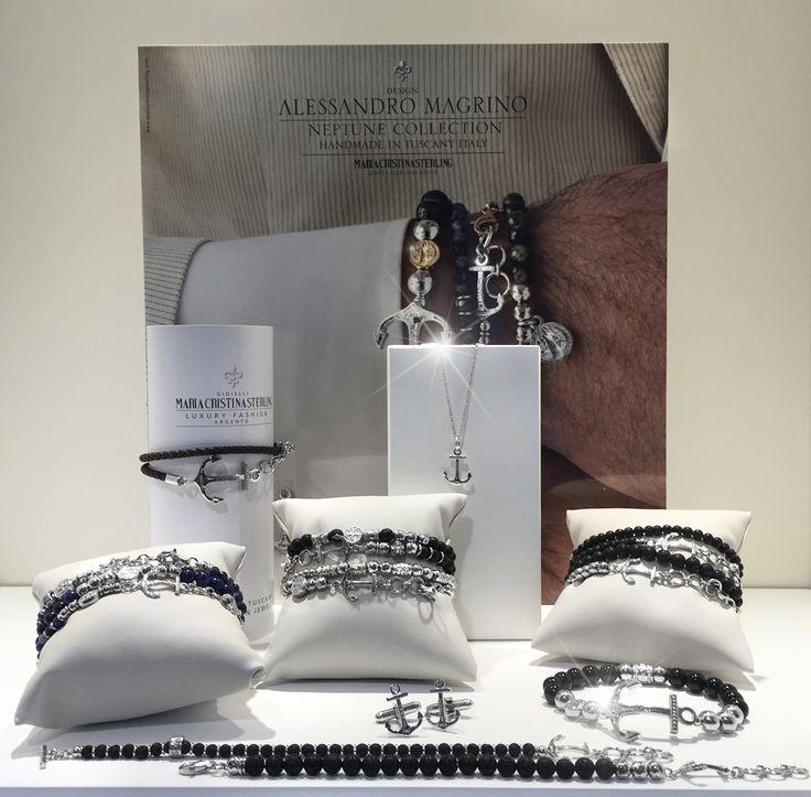 Gioielli moda uomo argento collezione Neptune handmade in Tuscany Italy Designed Alessandro magrino