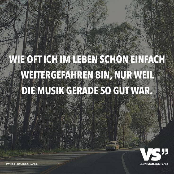Wie oft ich im Leben schon einfach weitergefahren bin, nur weil die Musik so gut war.