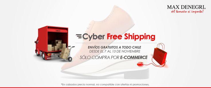 Cyber Free Shipping, envíos gratis a todo Chile desde el 7 al 13 de noviembre. Zapatos de hombre de altura +7cm www.maxdenegri.com