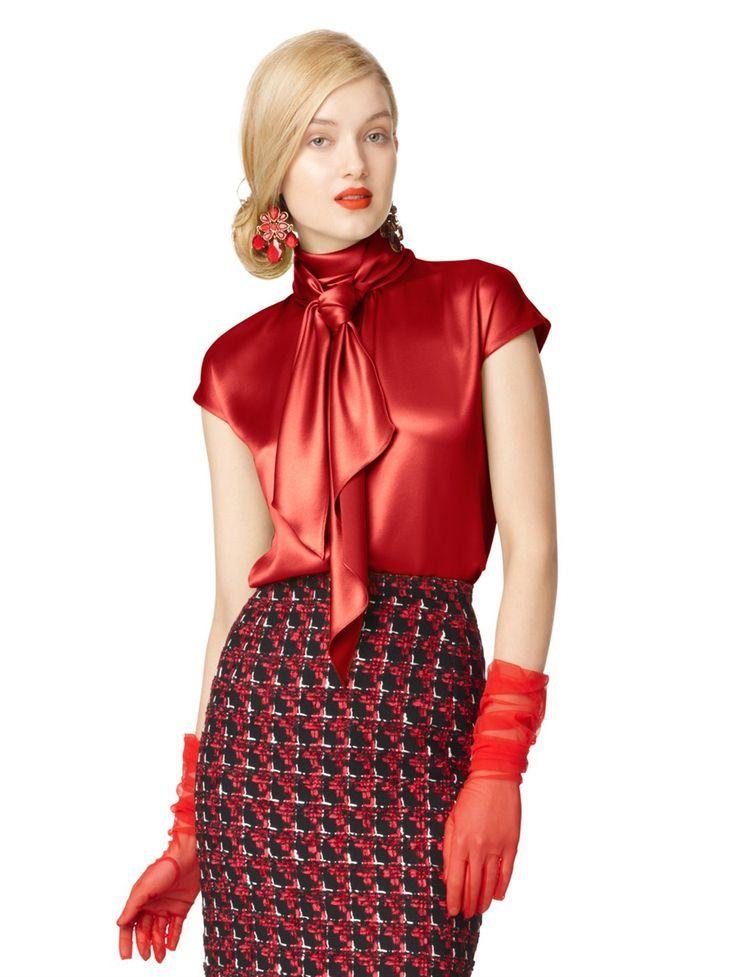 Best 25+ Satin blouses ideas on Pinterest | Silk blouses ...